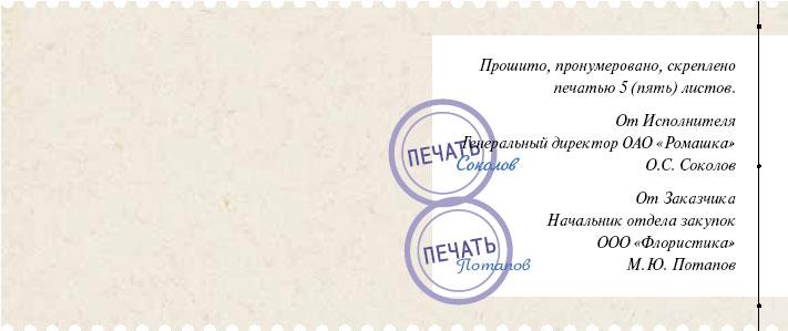 лист согласований договора образец
