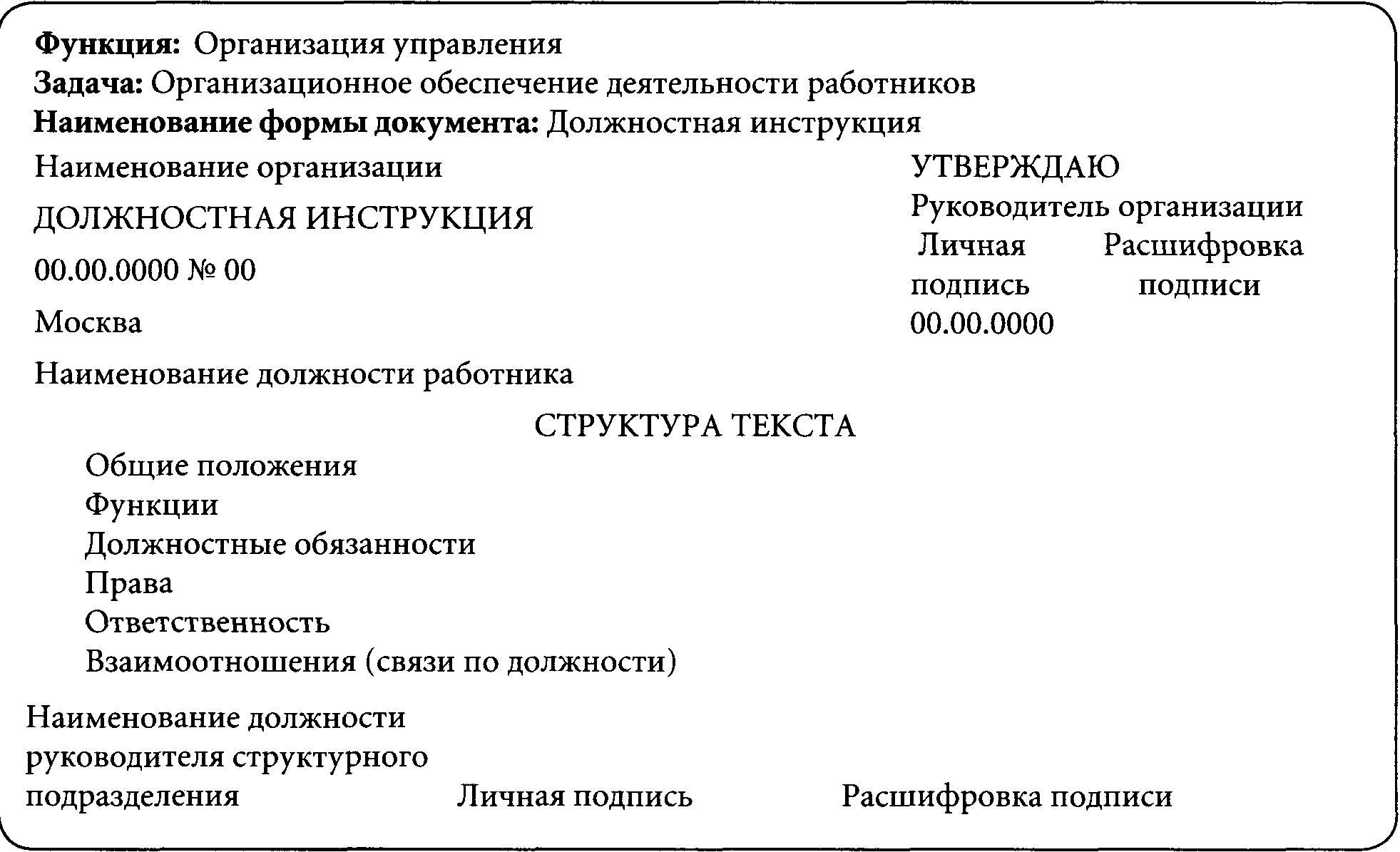 Приказ о внесении изменений в должностные инструкции. образец